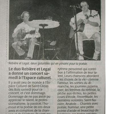 article Ouest France - 2005